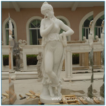 Life Size White Marble Lady sculpture